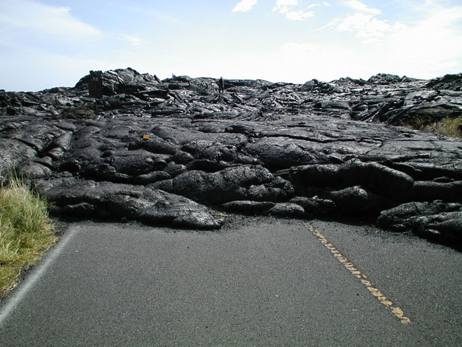 Chain of Craters Road once circuited the southern slopes of Kilauea